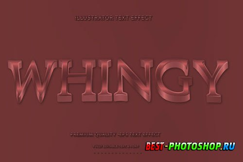 Wavey Whingy Text Style with Red Accent