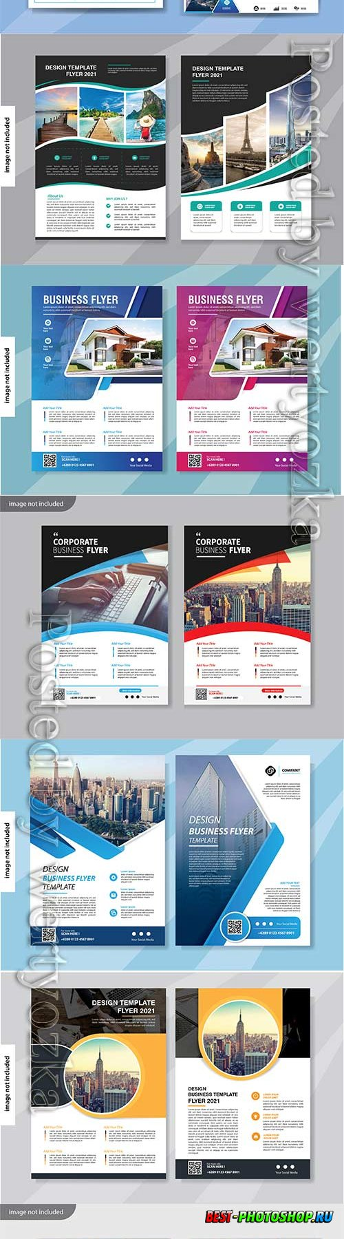 Flyer template design for cover layout annual report vol 2