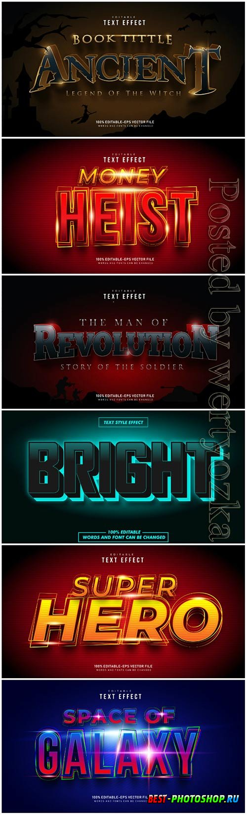 Text effect in vector vol 3