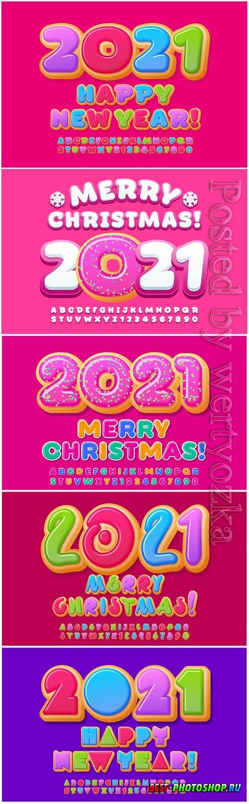 2021 vector elegant greeting card merry christmas
