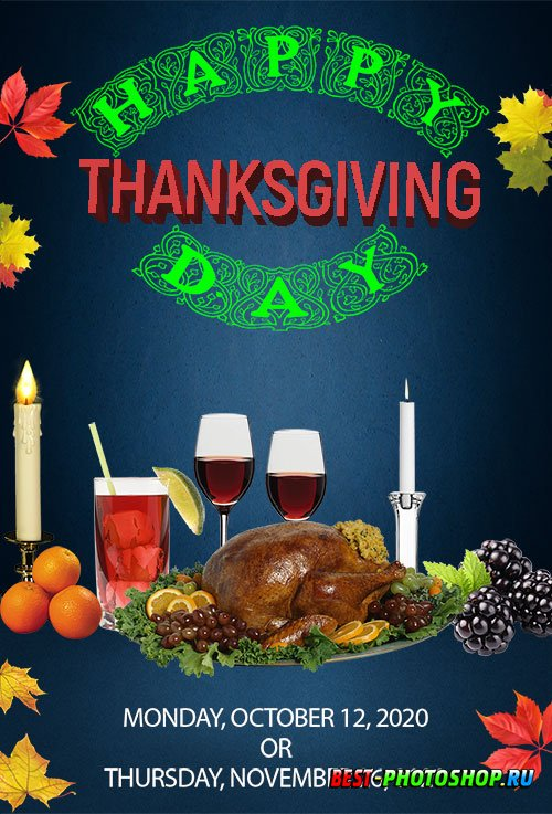 Thanks Giving Flyer PSD Template