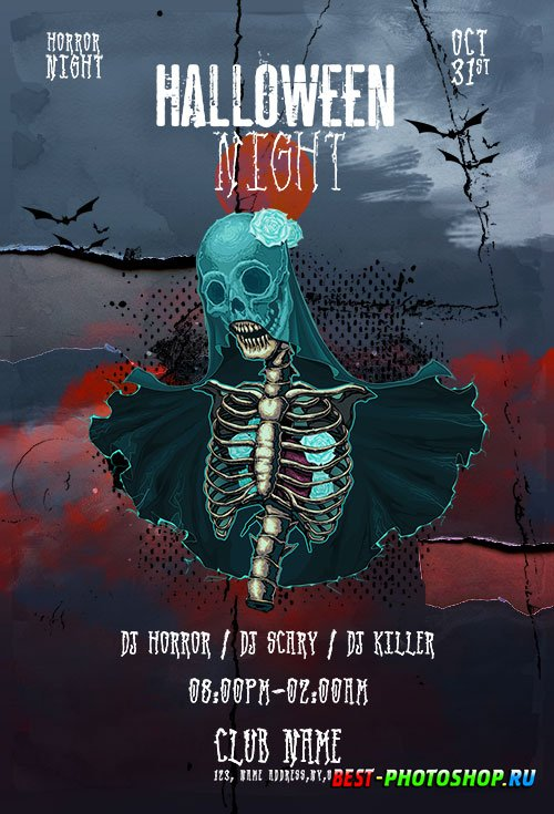 Halloween Night Flyer Template PSD