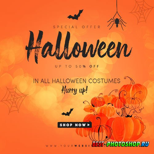 Halloween Flyer PSD Template