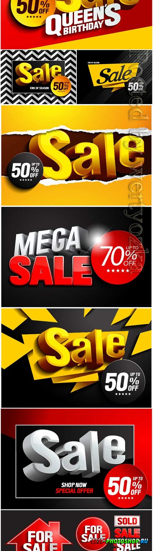 Sale with discount vector design