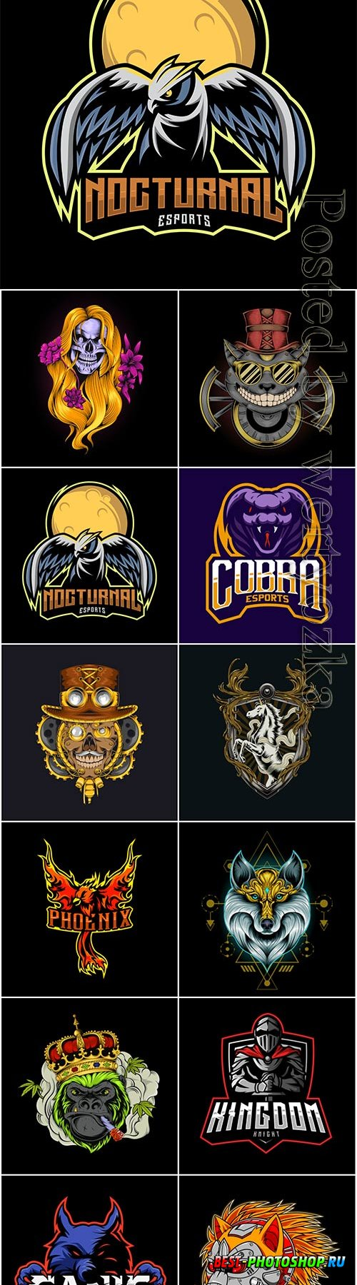 Vector mascot logo esports inspiration