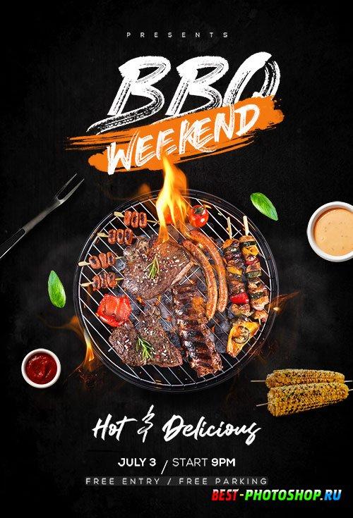 BBQ Weekend - Premium flyer psd template