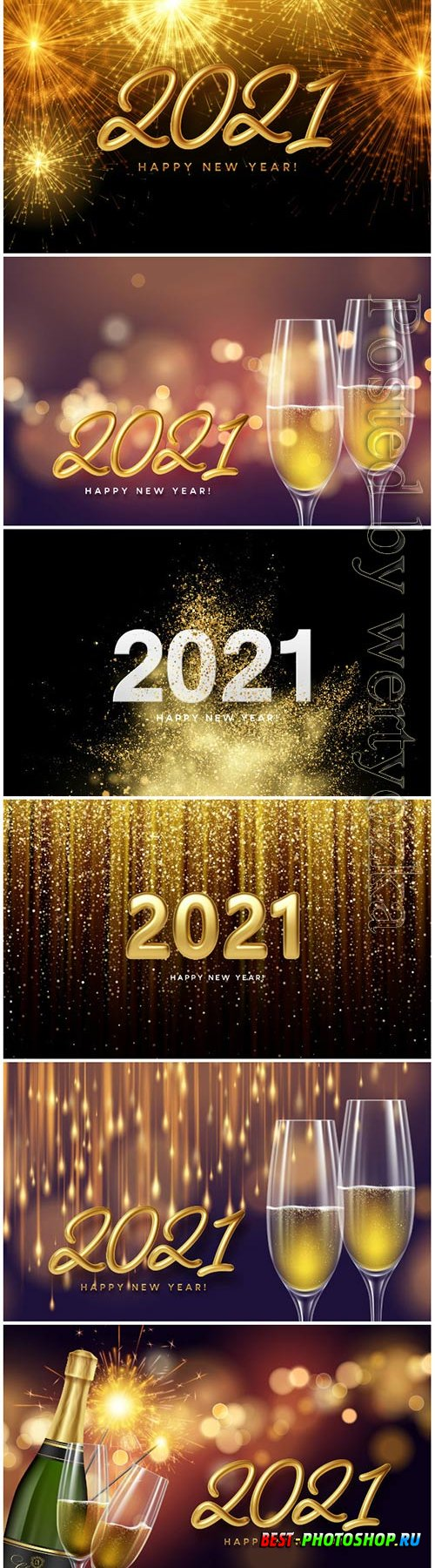 Vector greeting card Merry Christmas 2021 and happy New Year