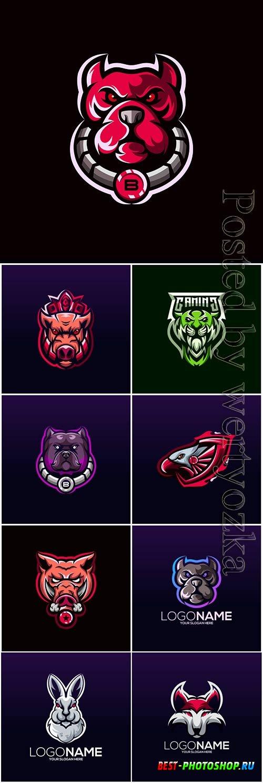 Mascot esport logo design premium vector vol 10
