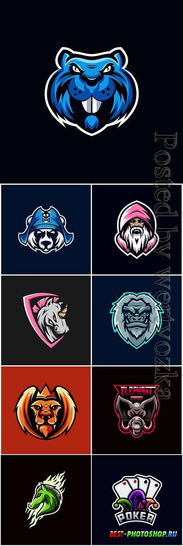 Mascot esport logo design premium vector vol 9