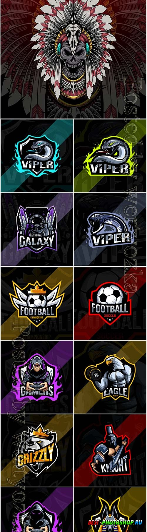Mascot esport logo design premium vector vol 31