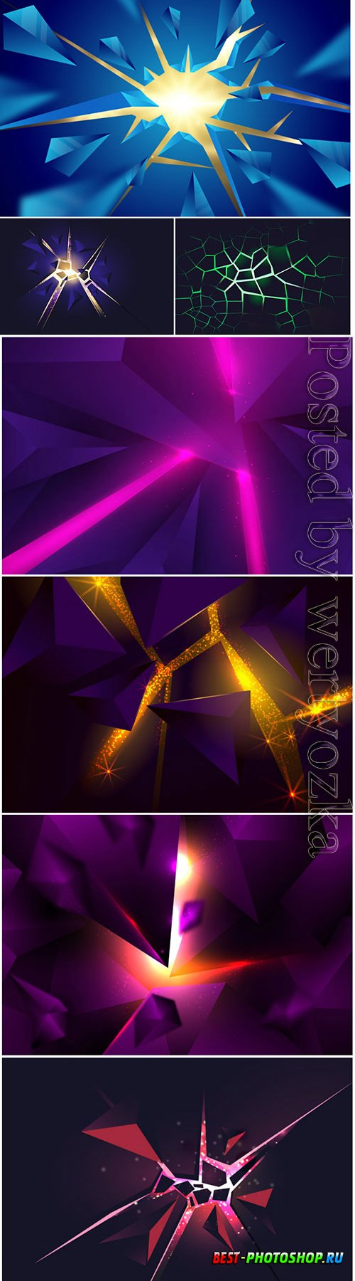 3d explosion with light vector background