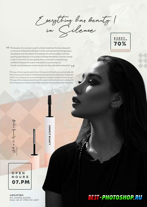Beauty Make-up & Lashes Sale - Premium flyer psd template