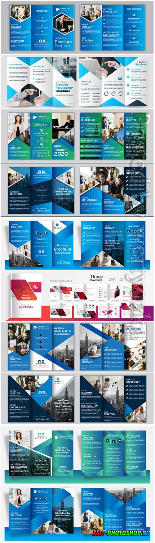 Vector set business brochure design template