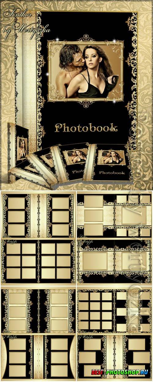Photo album with beautiful gold decoration