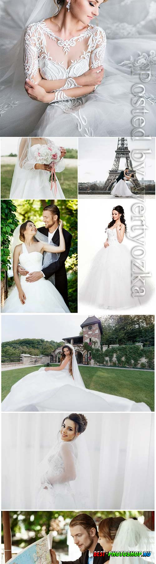 Bride and groom, wedding stock photo