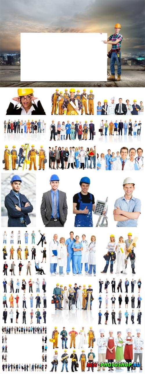 People of different professions stock photo