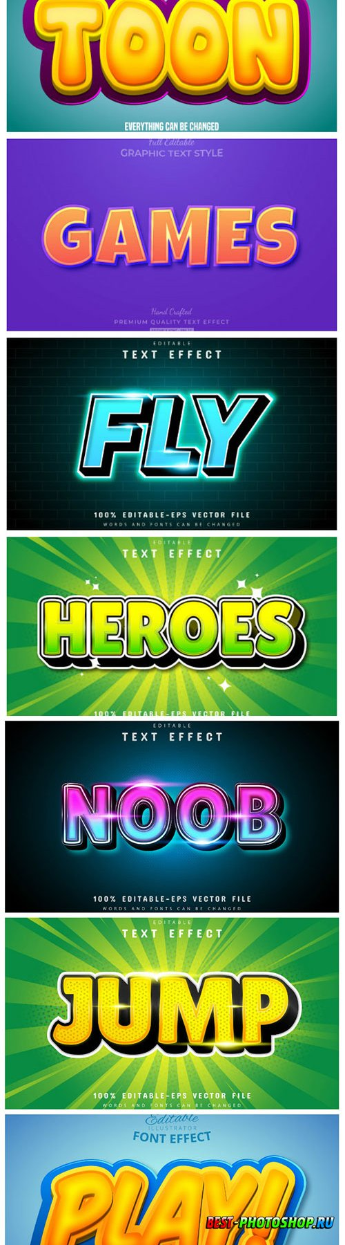 3d editable text style effect vector vol 154
