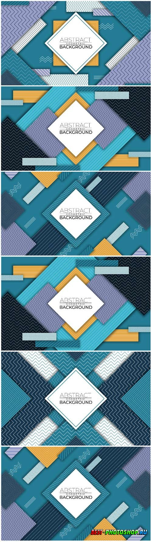 Modern abstract geometric vector background style