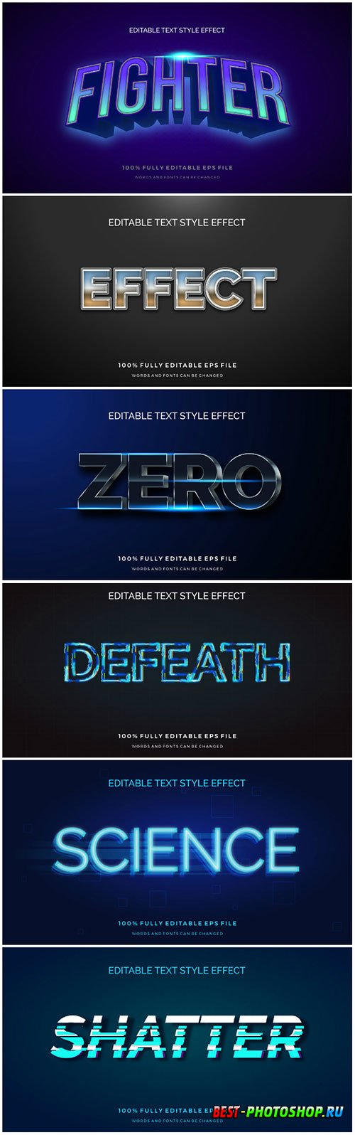 3d editable text style effect vector vol 179
