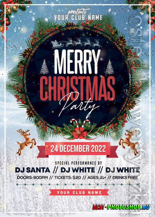 Christmas Party 4 - Premium flyer psd template