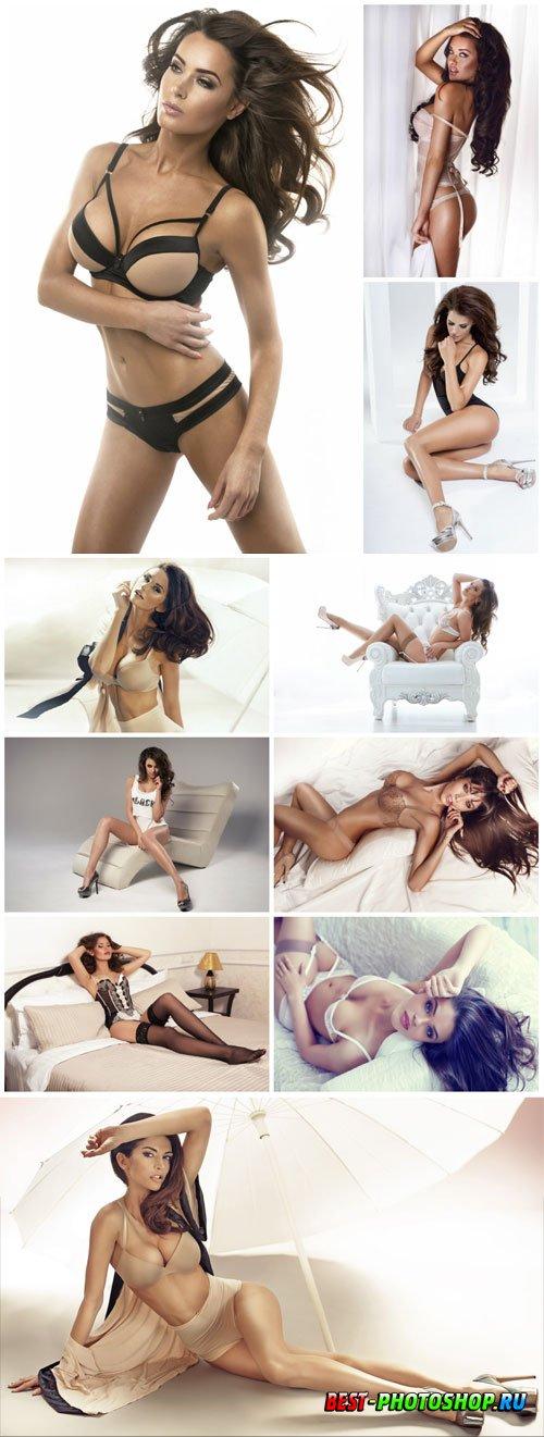Beautiful and stylish girls stock photo