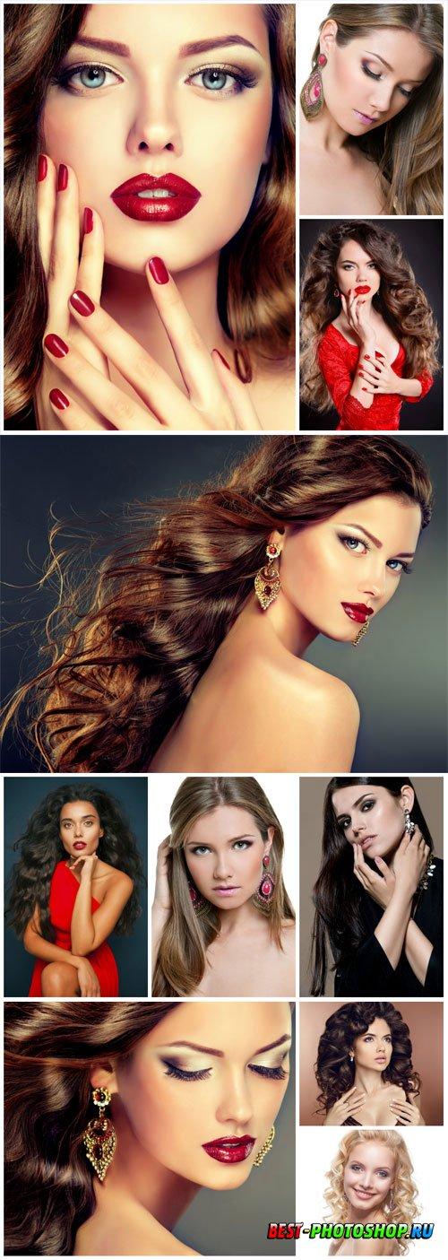 Women with beautiful makeup stock photo