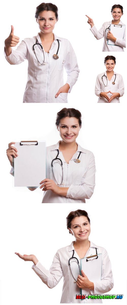 Pretty woman doctor stock photo