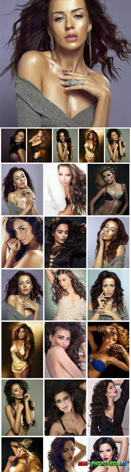 Stylish beautiful women stock photo