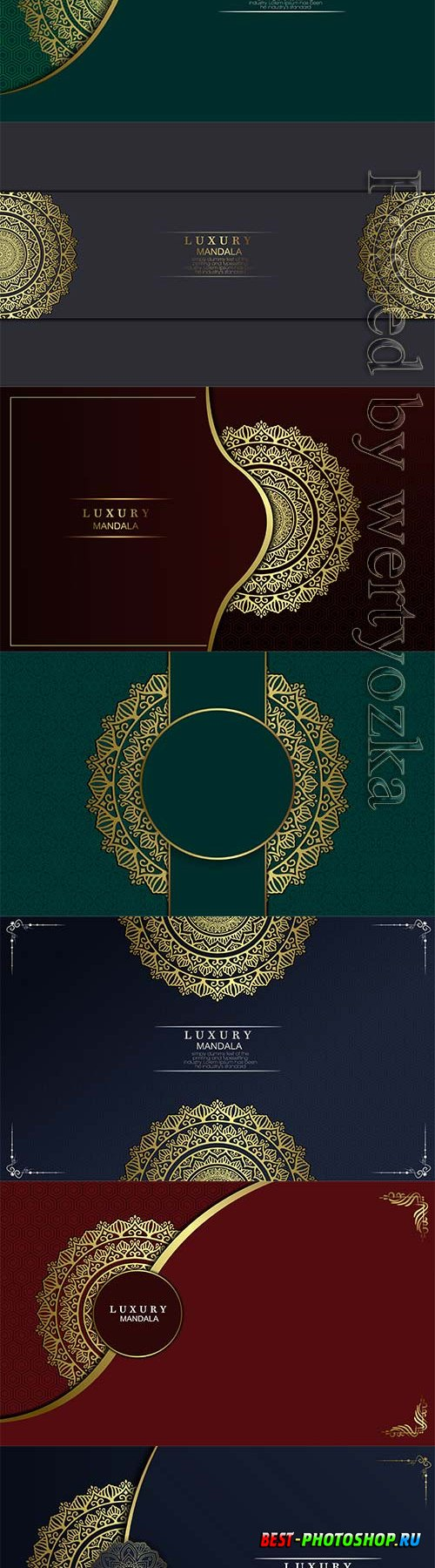 Floral and mandala ornamental decorative frame
