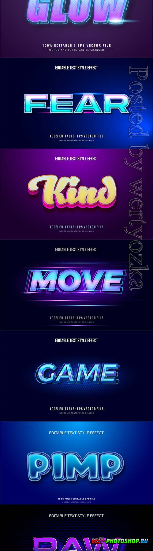 3d editable text style effect vector vol 304