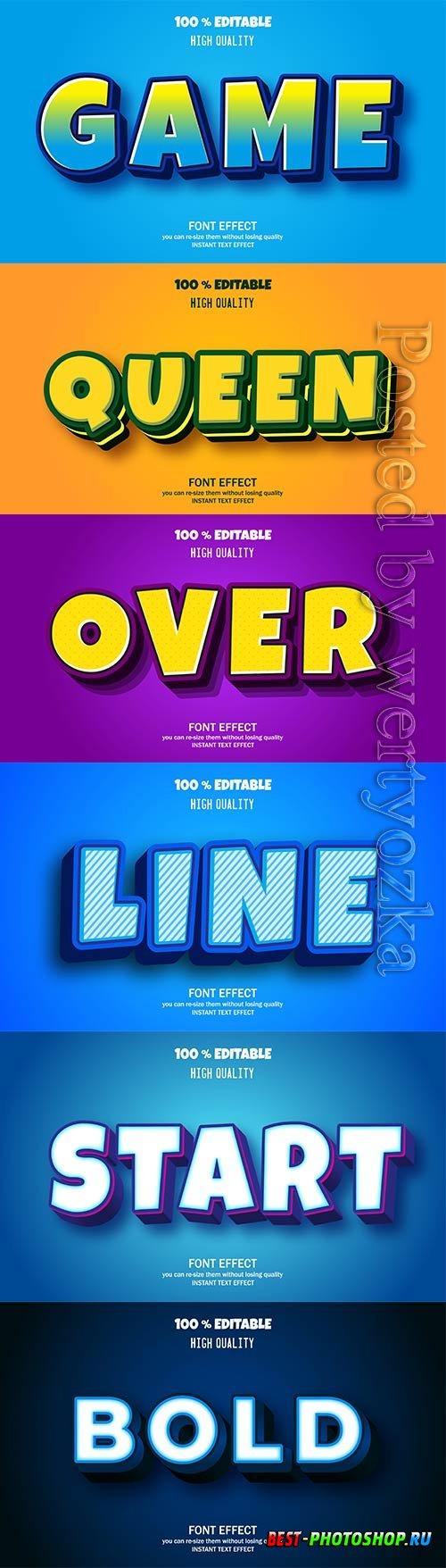 3d editable text style effect vector vol 314