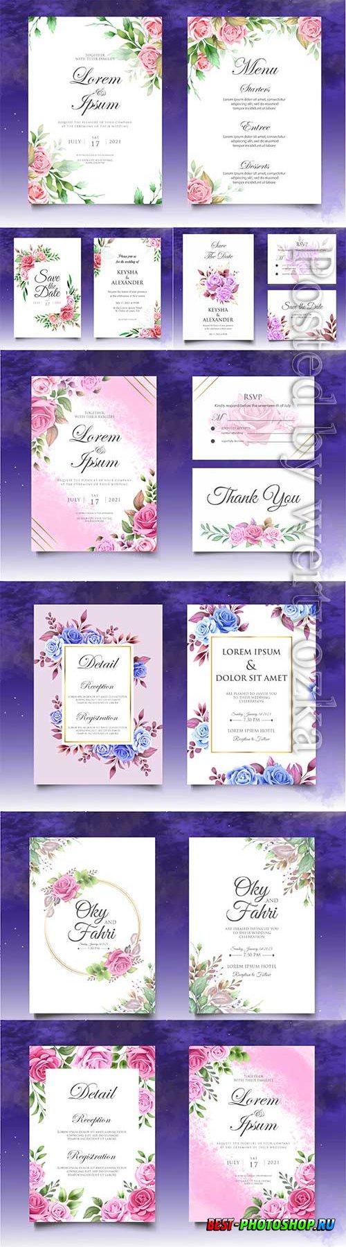 Wedding invitation card with decoration