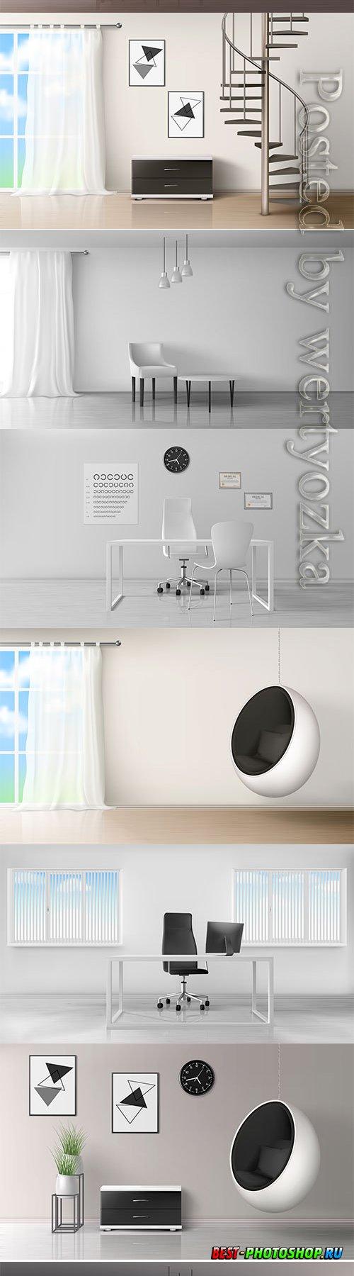 Modern interior in vector