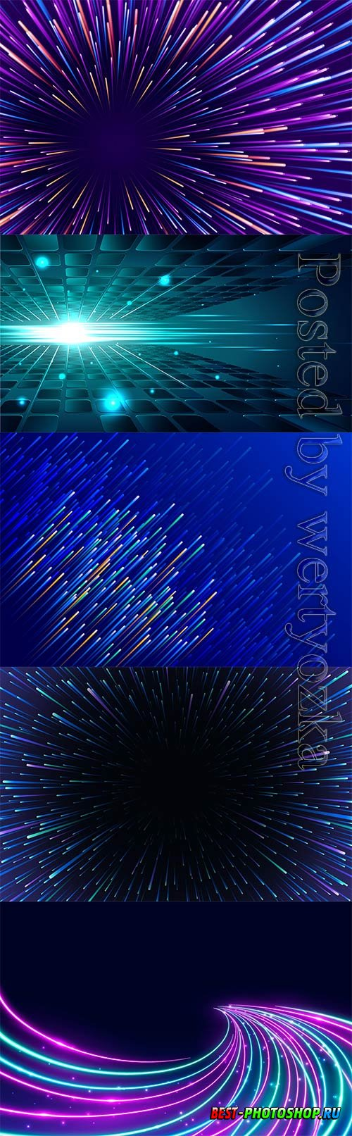 Abstract backgrounds with shining elements in vector