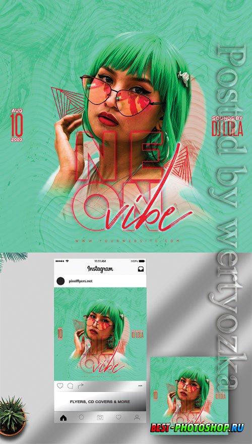 Neon Vibe - Premium flyer psd template
