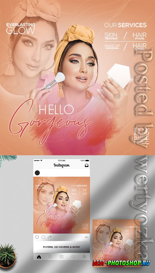 Hello Gorgeous - Premium flyer psd template
