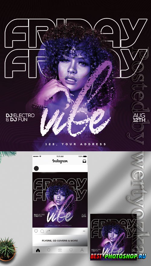 Friday Vibe - Premium flyer psd template