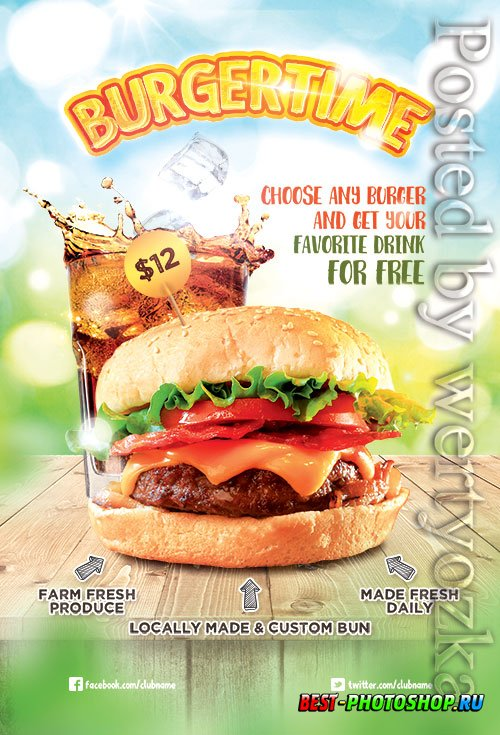 Burger Time - Premium flyer psd template