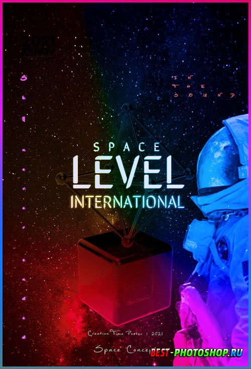 Space Concept Flyer PSD Template