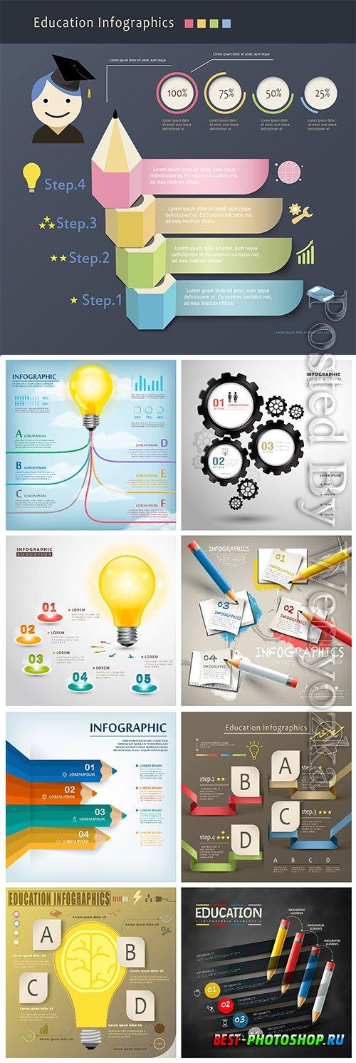 Infographic template concept vector design vol 5