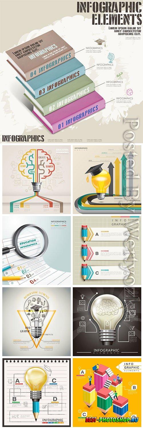 Infographic template concept vector design vol 4