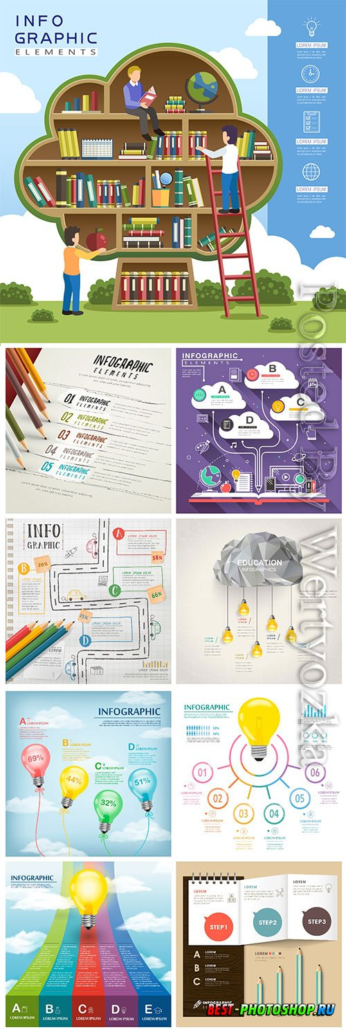 Infographic template concept vector design vol 8