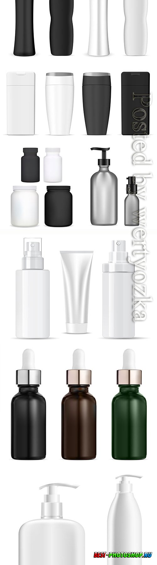 Bottle cosmetic vector package