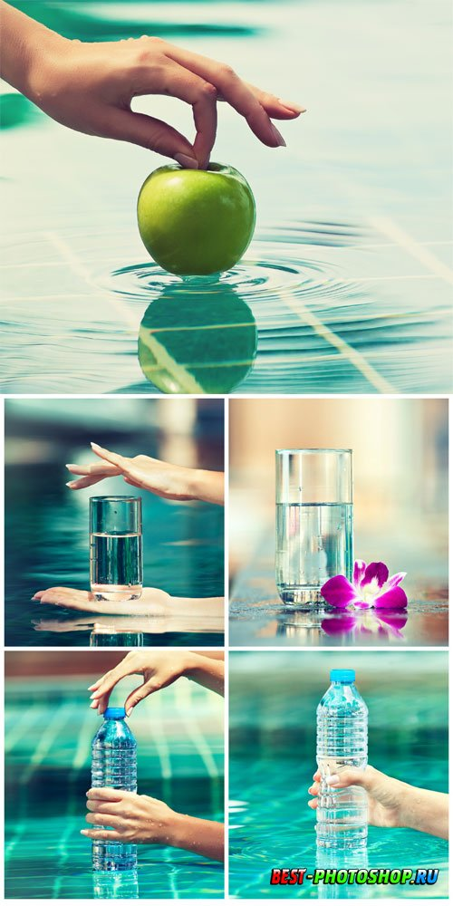 Pure water stock photo