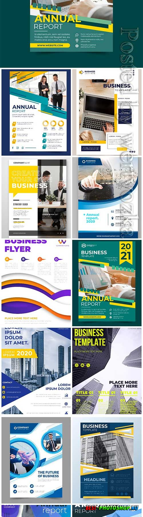 Business brochures and flyers in vector