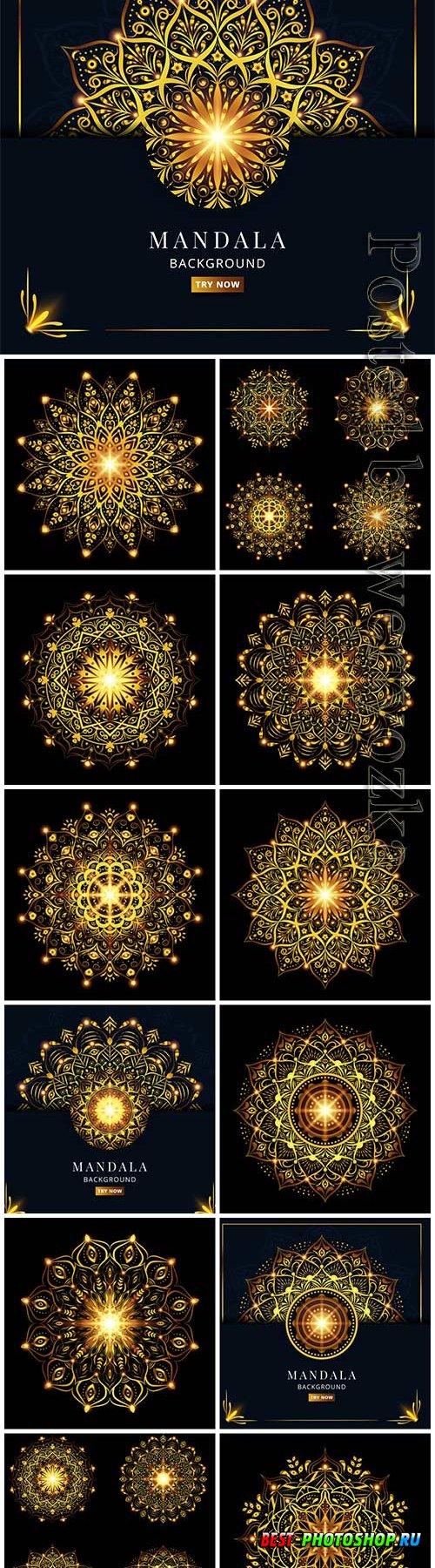Set collection luxury mandala vector design
