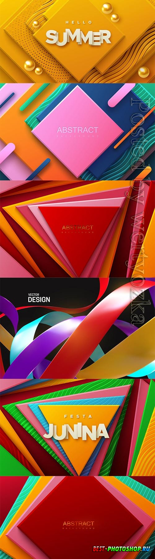 Abstract geometric background with multicolored square shapes