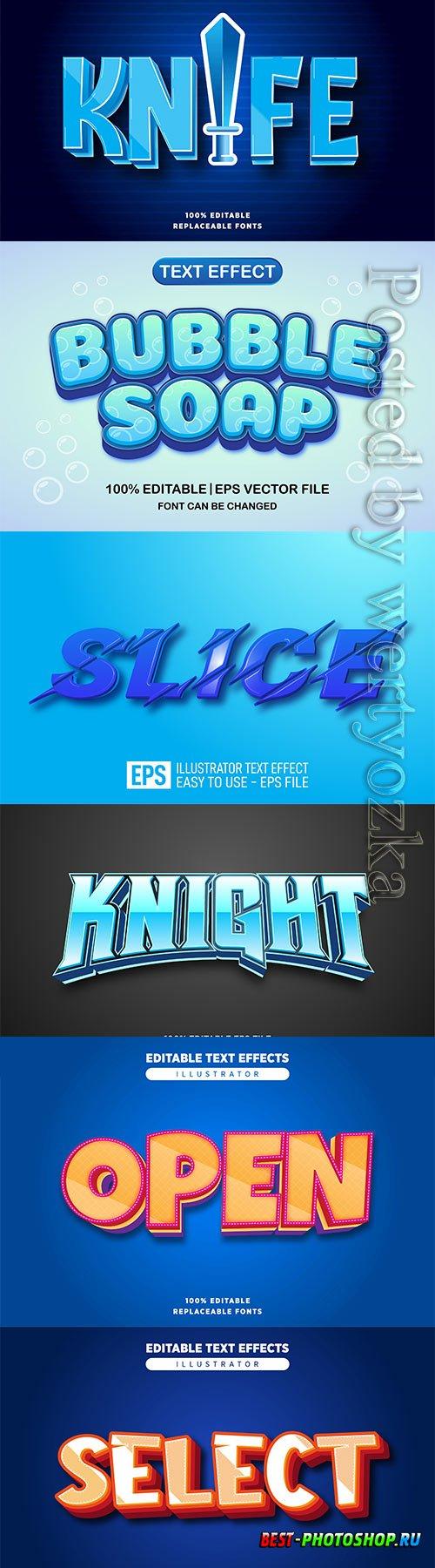 3d editable text style effect vector vol 522