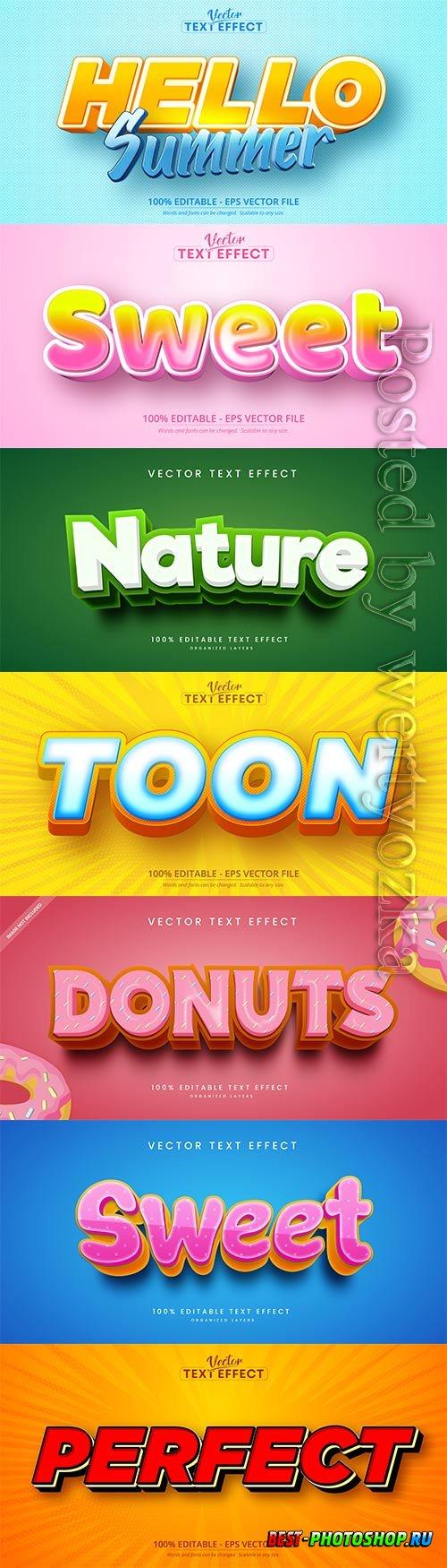 3d editable text style effect vector vol 516
