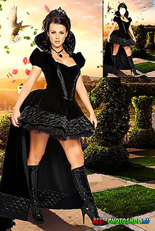 Костюм для фотошопа   Шахматная королева